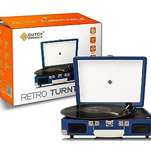 DUTCH ORIGINALS Tocadiscos Retro | Reproductor de música con ...
