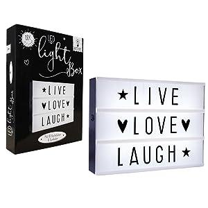 LIFA LIVING Caja de Luz de Cine, Pantalla de Luz LED con Letras ...