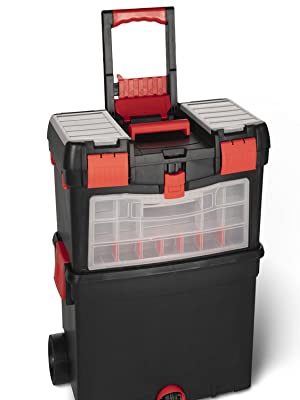 Carro de herramientas con ruedas completo | Juego de 40 | Trolley con kit de herramientas