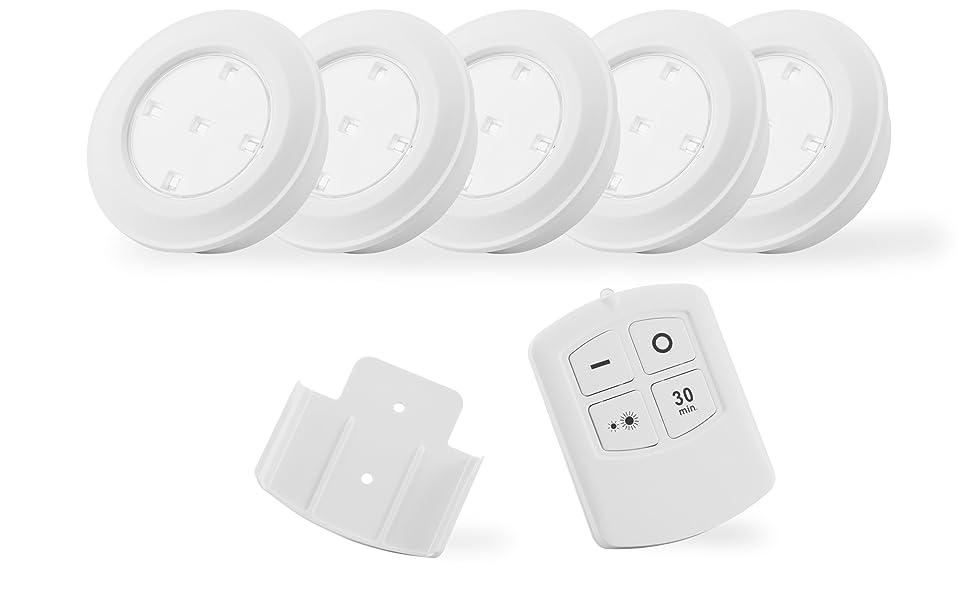 lampara pulsador bombilla adhesiva sin cable pilas habitacion gabinete armario cocina escalera