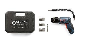 WOLFGANG Mini Destornillador Inalámbrico 3.6V | Taladro Atornillador pequeño con Juego de 27 Puntas y Accesorios | Batería de Ion litio 1500 mAh, ...