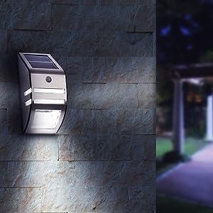 LED LOVERS Sensor de Movimiento con Luz de Exterior, Foco Inalábrico LED para Exteriores, Iluminación de Seguridad para Jardín, Patio, Garaje, Terraza, Camino: Amazon.es: Jardín