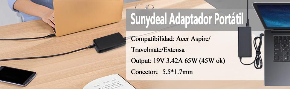 Sunydeal ADP-65JH DB I4B9 - Computadora Portátil Cargador, Fuente ...