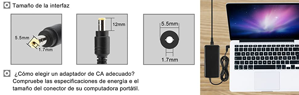 E1-571 ES1-571 E1 ES1 V3 E5 E15 Serie AC Adaptador, Notebook