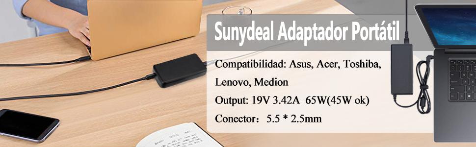 Adaptador Cargador Nuevo Compatible para portátiles Toshiba ...