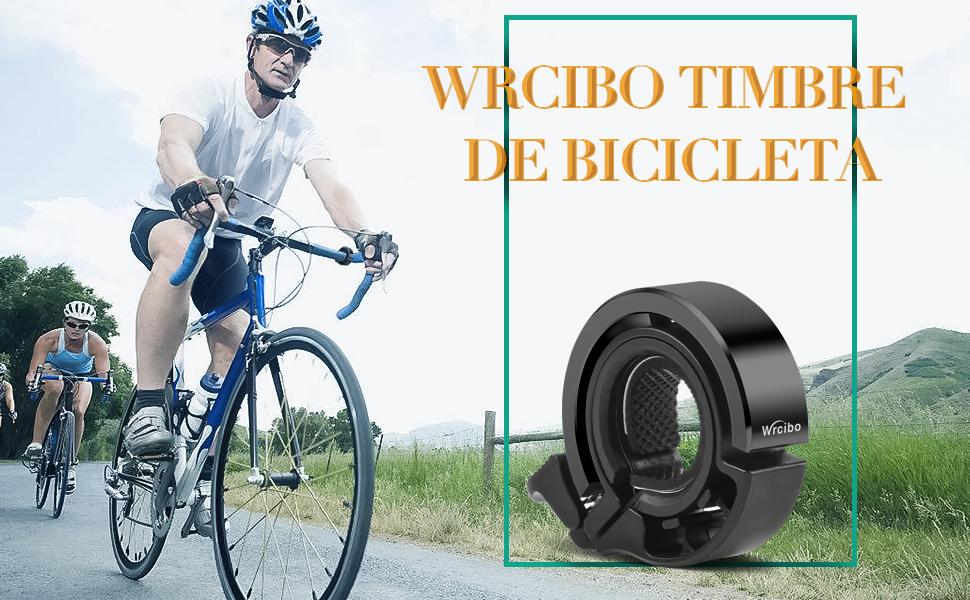 Wrcibo Timbre de Bicicleta Bike Bell, Aluminio Timbre de Ciclismo Q diseño Invisible para 24-31,8mm manillares Accesorios clásicos Duradera Bicicleta Bell - Negro: Amazon.es: Deportes y aire libre