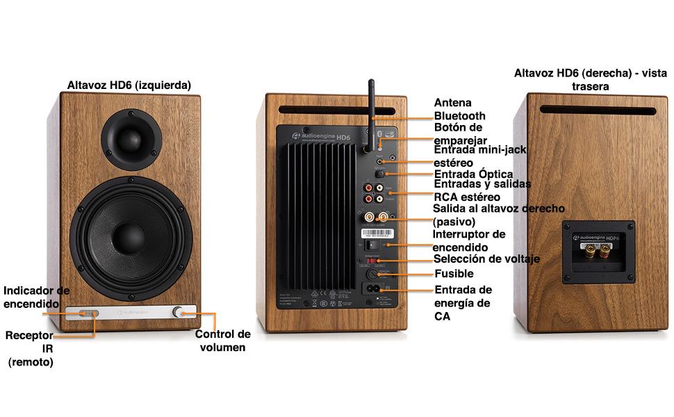Altavoces de Estantería Inalámbricos Audioengine HD6 150W ...