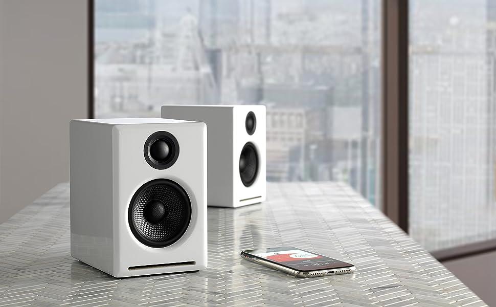 Audioengine A2+ Wireless 60W Altavoces de Ordenador con tecnología ...