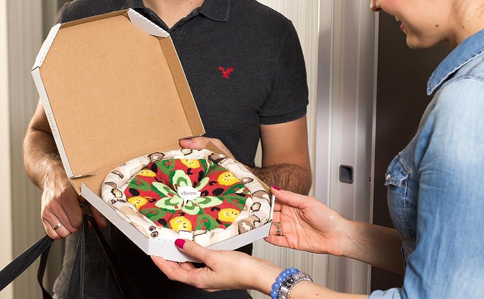 Rainbow Socks - Pizza Vegetariana Mujer Hombre - 4 pares de Calcetines: Amazon.es: Ropa y accesorios