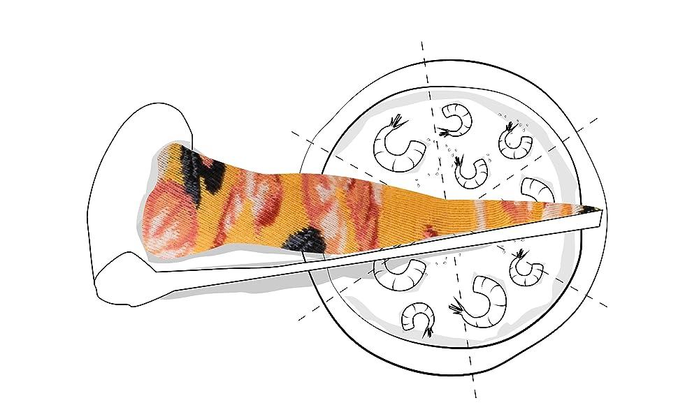 Pizza Socks Box Slice - Mariscos - Mujer Hombre - 1 par de Calcetines: Amazon.es: Ropa y accesorios