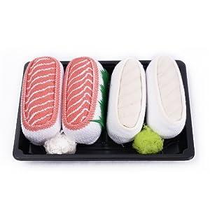 Sushi Socks son como un verdadero sushi. Los calcetines de sushi están hechos de tela de la más alta calidad. 80% algodón 17% poliamida 3% elastano