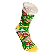 Nuestros calcetines de pizza es el producto único en el mercado. Calcetines son inventados