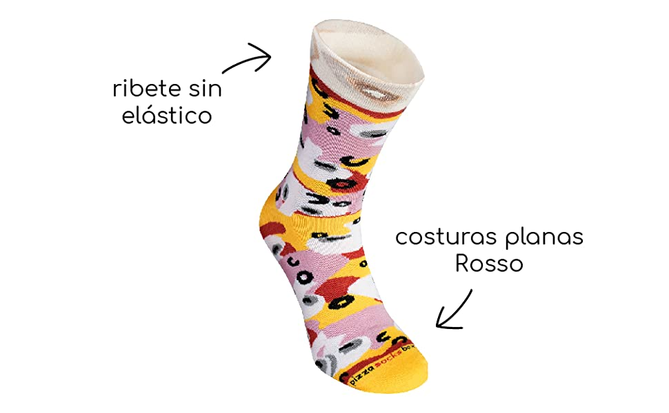 Pizza Socks Box - Pizza Caprichosa - 4 pares de CALCETINES ...