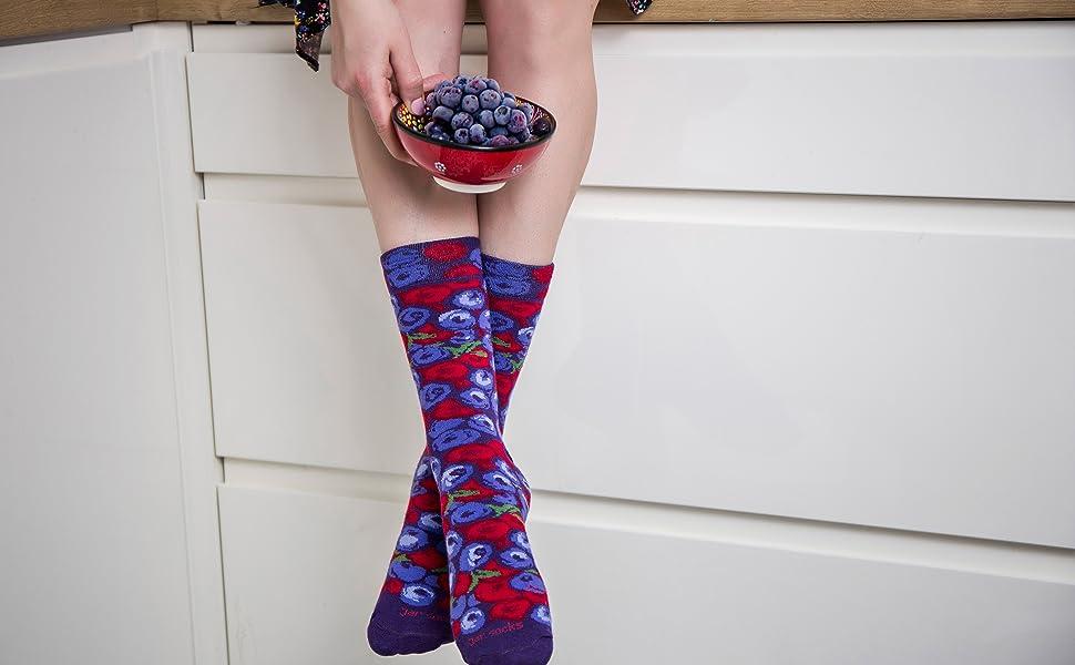 2 Pares Rainbow Socks Mujer Hombre Aceitunas Negras y Verdes en Tarro Calcetines Fantasia