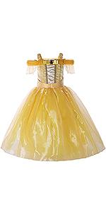 Disfraz de princesa Belle para niña.
