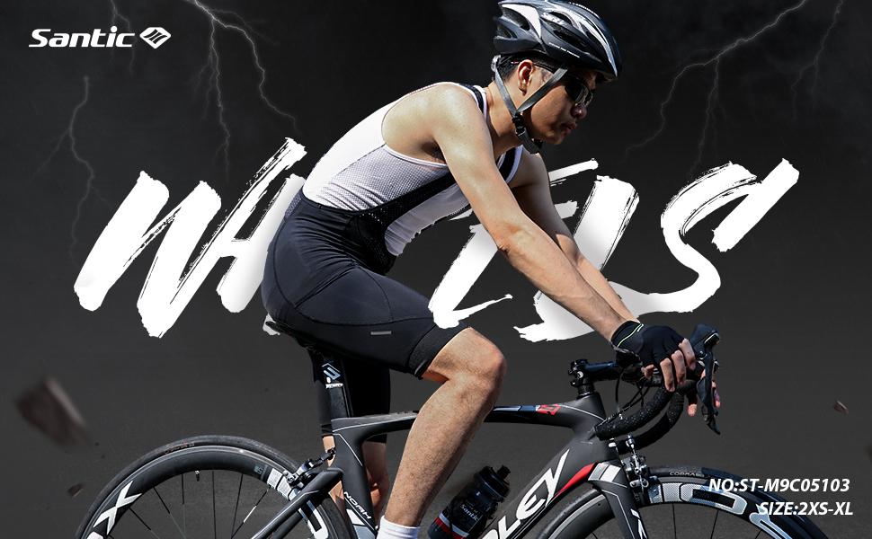 Santic Culote Bicicleta Hombre Culotte Ciclismo Hombre Culote MTB ...