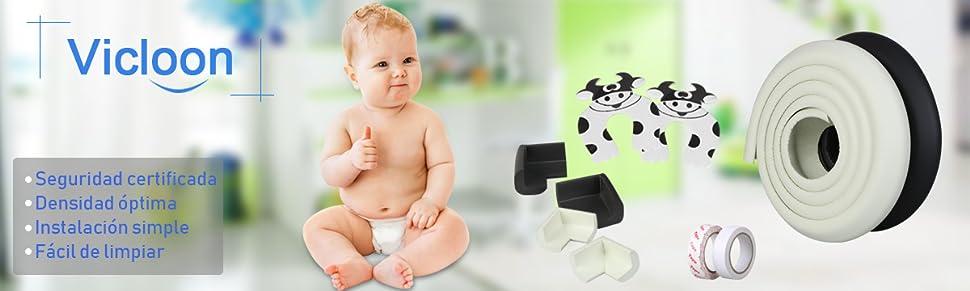 2 Set Protectores Para Esquinas y Bordes,Muebles,S/úper Pruebas en Pantalla y la Seguridad para el Beb/é Vicloon Conjunto 2M