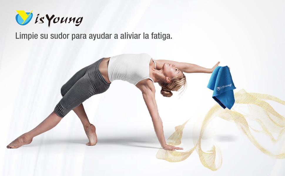 isYoung Toalla Deportiva de Microfibra para Gimnasio Ejercicios Al Aire Libre, Viajes, Nadar, Correr, Yoga, Absorbe Sudor Secado Rápido y Baja la ...