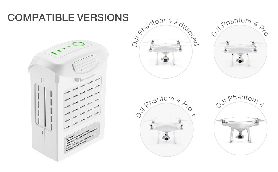 Powerextra Phantom 4 Series (15.2V 5350 mAh): Amazon.es: Electrónica