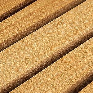 color bamb/ú Accesorio de ba/ño y ducha con est/ética de spa mDesign Juego de 2 alfombras de bamb/ú Alfombrilla de ba/ño rectangular de bamb/ú ecol/ógico