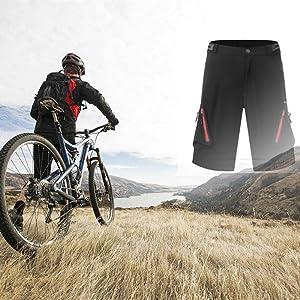 Diswoe Pantalones Cortos de Bicicleta Baggy Shorts Ciclismo MTB ...