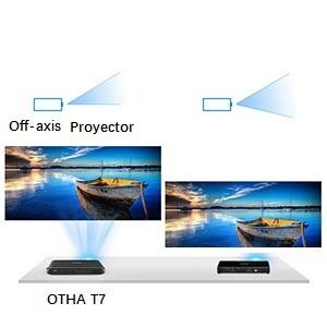 OTHA Mini Proyector Portátil 3D, Proyector DLP 200ANSI Lúmenes ...
