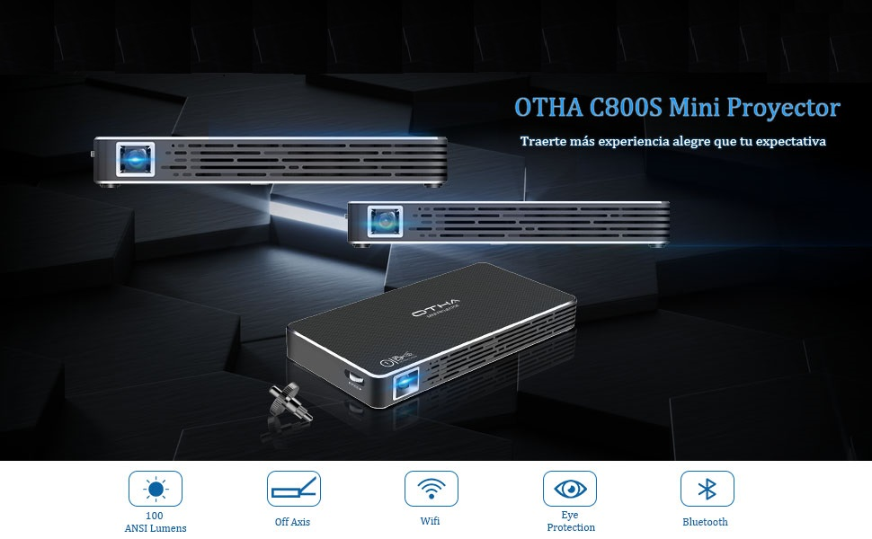 OTHA Mini Proyector Android 7.1, Portatil Proyectores DLP LED Home ...