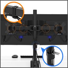 BONTEC Soporte Doble para Monitores y La Base Ajustable de Brazo ...