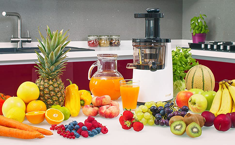 BioChef Atlas – Extractor de zumos COLD PRESS, Slow Juicer ...