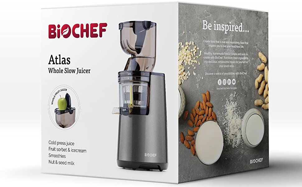BioChef Atlas Whole Slow Juicer - Extractor de zumo, rotación ...