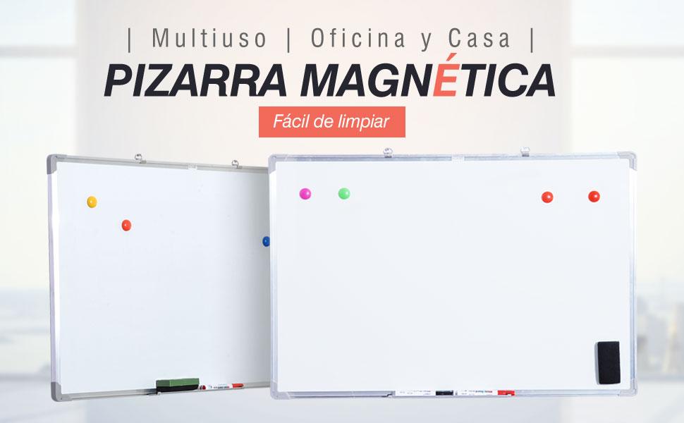 Pizarra Magnética Blanca con 10 Imanes, 1 Borrador y 4 ...