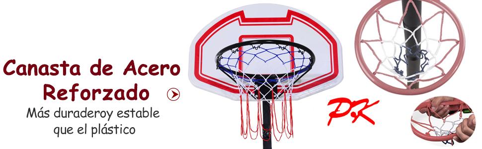 HOMCOM Canasta de Baloncesto Plegable Altura Ajustable 165-210cm Basket Red y Tablero: Amazon.es: Deportes y aire libre