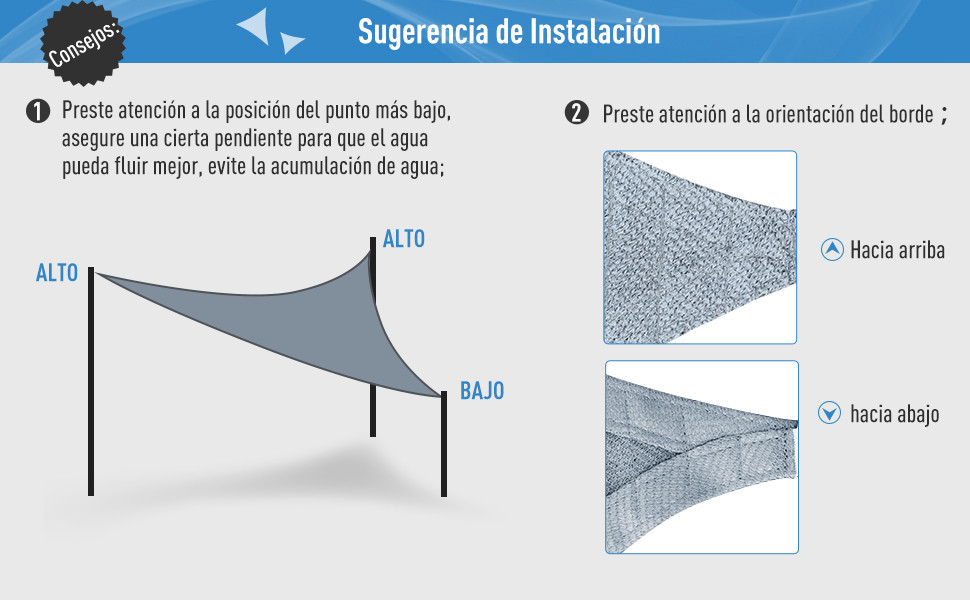 Toldo Vela 5x5x5m Triangulo