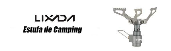 Lixada Estufa de Camping a Gas Plegable Mini Estufa de Gas para Picnic Cocina Acampada al Aire Libre