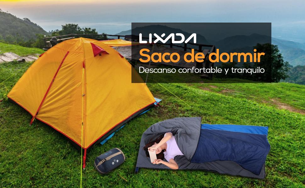 Lixada 95/% Saco de Dormir Ligero de Plum/ón de Pato Blanco con Saco de Compresi/ón para Mochileros Camping Senderismo Viajar