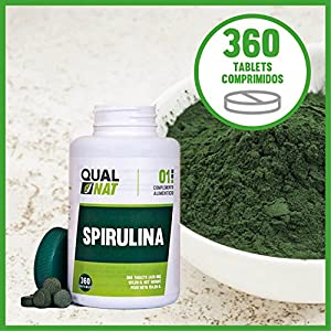 qualnat spirulina espirulina deporte mujeres hombres natural ecologica deportistas 360 comprimidos