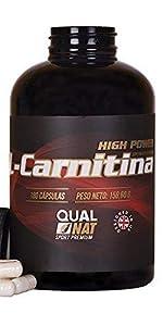 qualnat carnitina capsulas masa muscular energia rendimiento gimnasio suplemento deportivo deporte