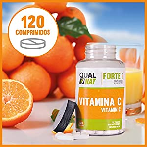 qualnat vitamina c salud bienestar mujeres hombres natural deporte energia comprimidos masticables