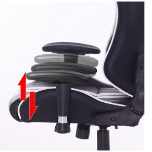 La silla de oficina tiene 2 reposabrazos bien equilibrados con altura y ángulo ajustables.