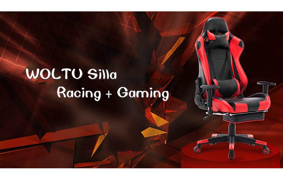 Ordenador Giratoria Racing Ajustable Bs14rt De Rojo Silla Woltu Escritorio Oficina SillaGaming CBQdeWrxo