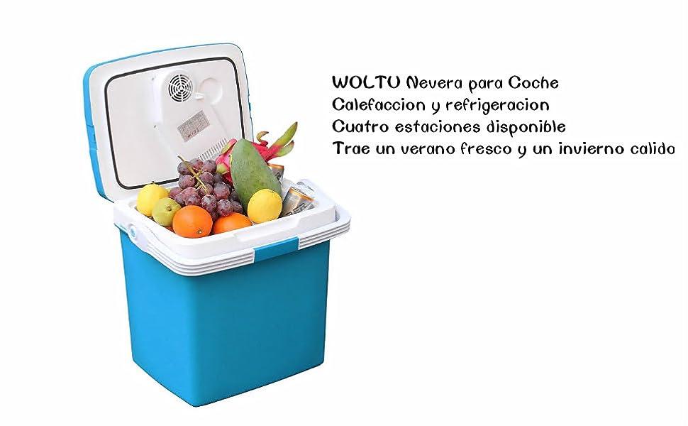 WOLTU AC/DC Nevera Termoeléctrica Portátil Calor/Frío Nevera de ...