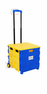 WOLTU Carritos de Compra Carrito de Transporte con Tapa Plegable Capacidad de 35 kg 64L 42X40,5X100 cm ABS//Acero Inoxidable Azul//Rojo