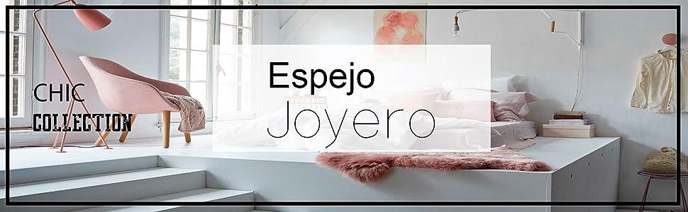 duehome - Espejo joyero XXL 160 cm, Guarda Joyas de pie, Blanco ...
