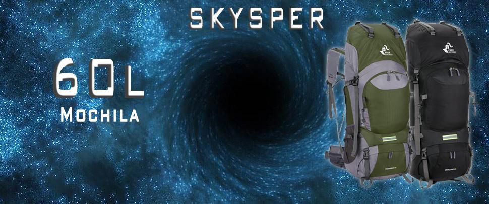 Skysper 60L Mochila de Senderismo Impermeable ergonómica Macutos de Senderismo para Montañismo Escalada Marcha Trekking Camping Deporte Al Aire Libre ...