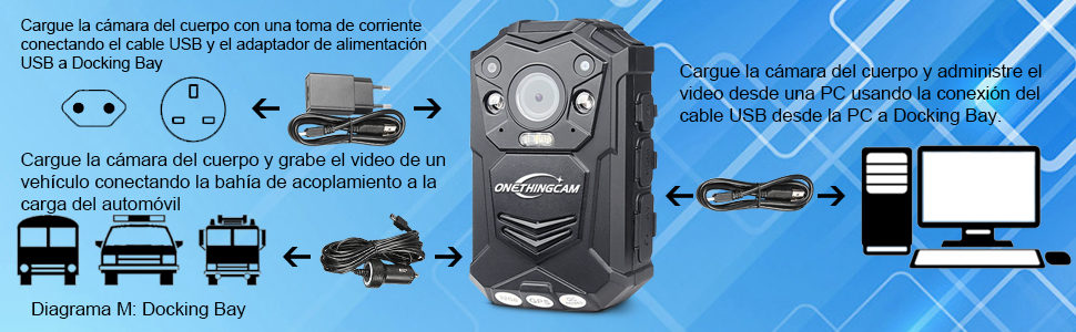 onething Cuerpo cámara Policía cámara Full HD 1296P 30 fps 64 G ...