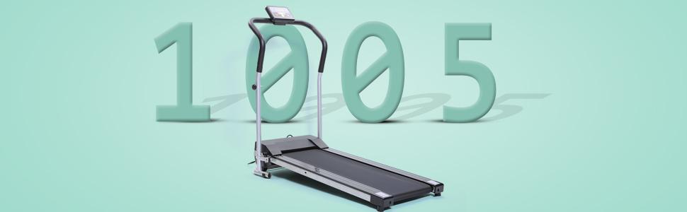 ISE SY-1005 - Cinta de correr plegable, con motor CC 750 W, con ...