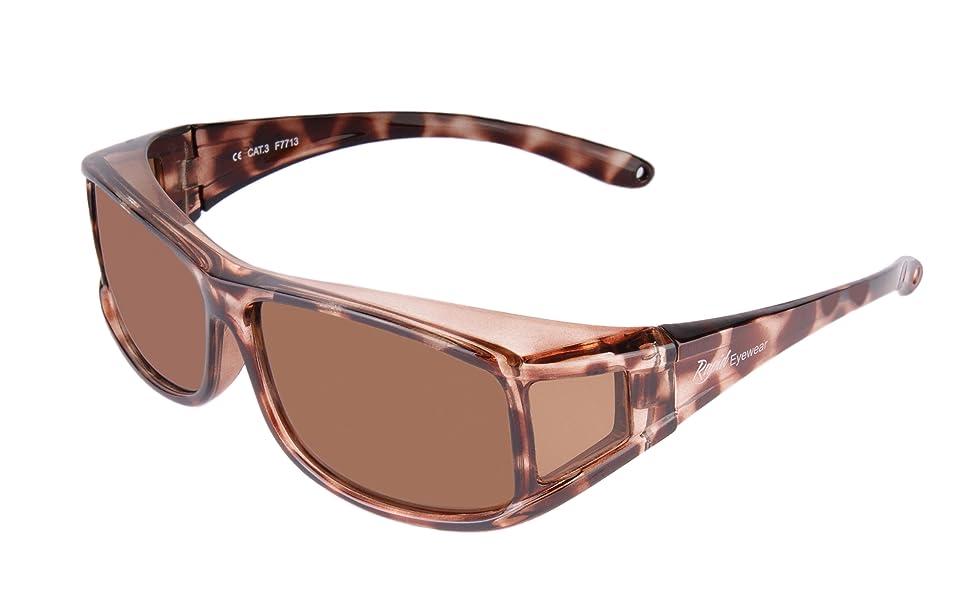 Rapid Eyewear Carey GAFAS DE SOL Polarizadas Para Colocar SOBRE LAS GAFAS Normales y de Lectura. Reducen el Deslumbramiento. Talla Adultos Mujeres. ...