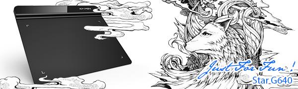 XP-PEN G640 Tableta Gráfica 6 x 4 Pulgadas Nivel de Presion 8192 para OSU
