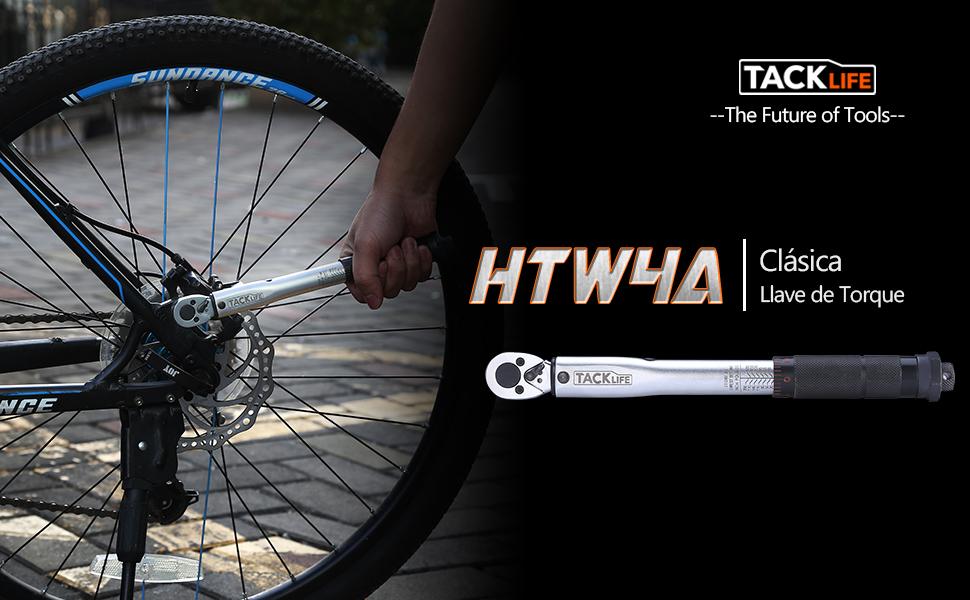 Tacklife HTW4A Llave de 1/4 Pulgada de Torsión de Clic Conductor