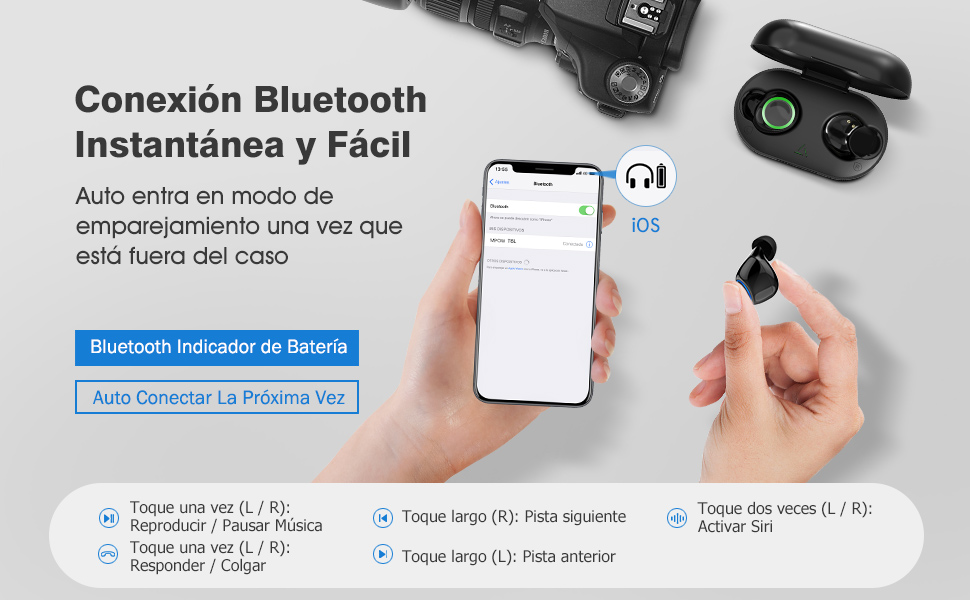 auriculares bluetooth 5.0